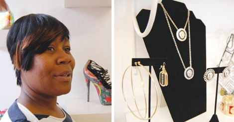 Thirty27 boutique owner Christina White gets helps from her sister Theresa White (pictured), who manages the exclusive shop for shoes, dresses and other fashion accessories at 3519 N.E. Martin Luther King Jr. Blvd.