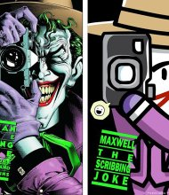 """In """"Scribblenauts Unmasked,"""" the covers of classic comics are reworked as part of the story. From 1988, """"Batman: The Killing Joke"""" was a graphic novel, featuring the Joker, that saw the classic franchise take a darker turn."""