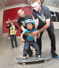 Askate Foundation hosts skateboard clinic for autistic youth.