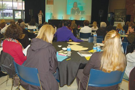 Educators from across the state convene at north Portland's Roosevelt High School for the fourth annual Teaching with Purpose conference.