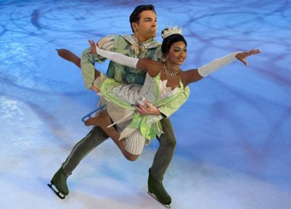 "Soniah Spence portrays ""Princess Tiana"" in Disney On Ice presents Let's Celebrate.   Courtesy Photo"