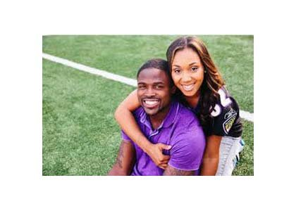 Baltimore Ravens wide receiver Torrey Smith and his wife Chanel Smith