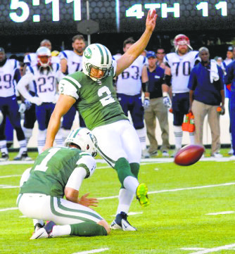 Nick Folk kicked a 42-yard game-winner, giving the Jets a 30-27 win over the Patriots.