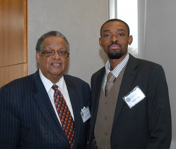 Ackneil Muldrow, consultant, The Baltimore Times; and Ronald Smith, student at the College of Business at Coppin State University.