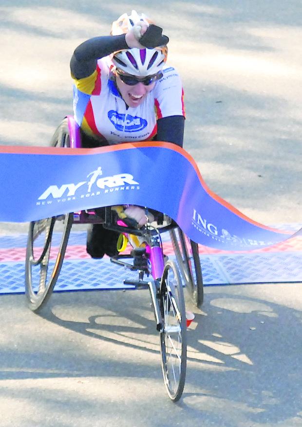 Masazumi Soetma won the 2011 New York City men's wheelchair championship.