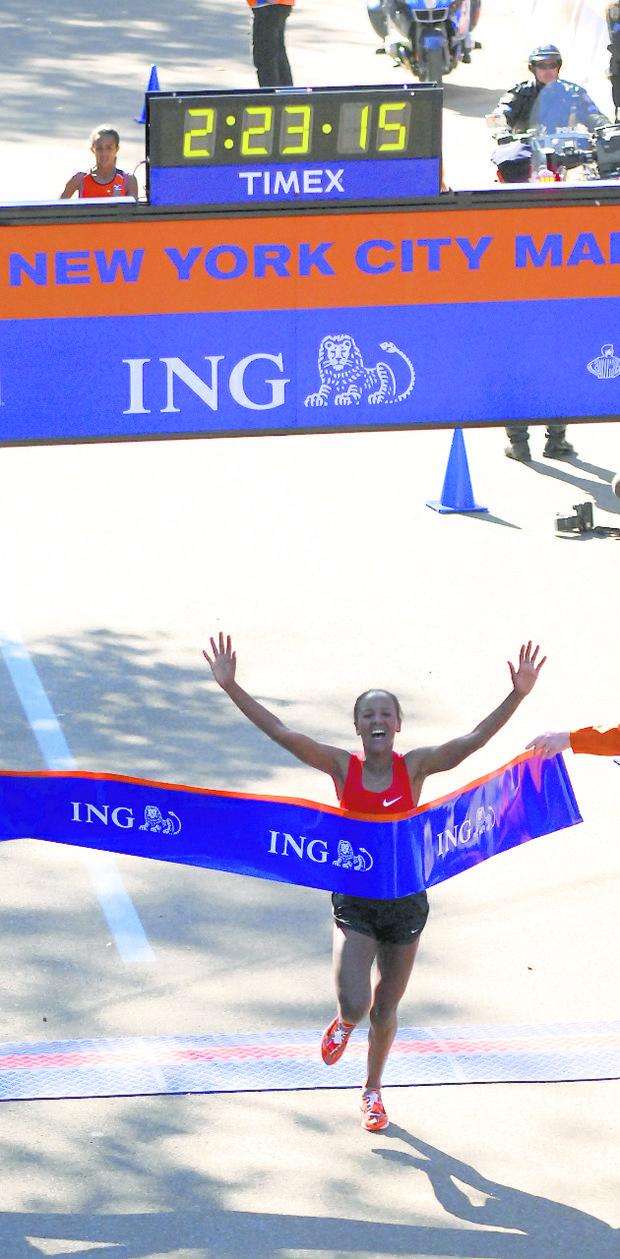 Dado Firehiwot is the defending 2011 women's New York City Marathon champ.