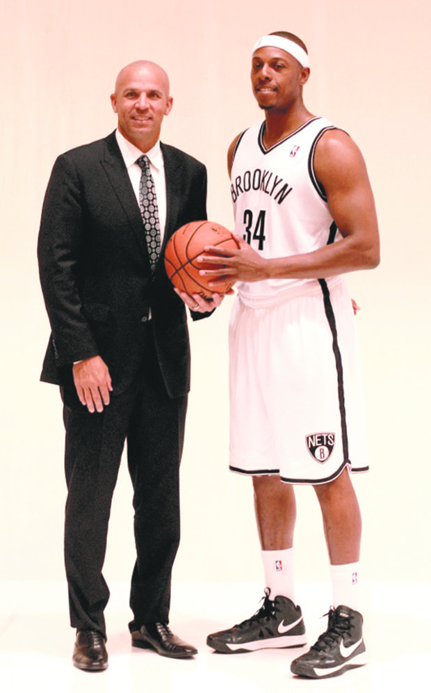 Paul Pierce will have Nets coach Jason Kidd's back as he sits out a two-game NBA penalty as the season tips off.