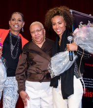 Karen Banfield Evans, 1st vice chair, ABC board of directors; Diane Bell-McKoy, ABC CEO; and Jada Pinkett-Smith.