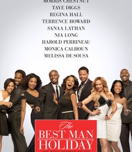 """After nearly 15 years apart, Morris Chestnut (""""Identity Thief""""), Taye Diggs (""""Baggage Claim""""), Regina Hall (""""Scary Movie"""" franchise), Terrence Howard (""""Hustle & Flow""""), Sanaa Lathan (""""Contagion""""), Nia Long (""""Soul Food""""), Harold Perrineau (""""Zero Dark Thirty""""), Monica Calhoun (""""Love & Basketball"""") and Mellisa De Sousa (""""Miss Congeniality"""") reprise their career-launching roles in """"The Best Man Holiday,"""" the long-awaited next chapter to the film that ushered in a new era of comedy.    In the closing frames of """"The Best Man Holiday,"""" the groundbreaking movie from then first-time writer/director Malcolm D. Lee, Lance (Chestnut) and Mia (Calhoun) had just gotten married, and Harper (Diggs) proposed to a very shocked Robyn (Lathan).  Murch (Perrineau) found the nerve to break up with Shelby (De Sousa) and begin dating Candy (Hall), the fantasy girl who'd become the love of his life, while the industrious Shelby rebounded and found herself in bed with lothario Quentin (Howard).  And although Jordan (Long) was successful as a television producer, she seemed destined to stay unlucky in love.  Everything has changed since that day.  Throughout the years, there have been marriages, children and divorces — not to mention all the love and heartbreak that accompany a life well lived — but the group has not been able to manage a proper get-together since Lance and Mia's wedding.  But that's all about to be remedied.  When the college friends finally reunite over the Christmas holidays, they will discover just how easy it is for long-forgotten rivalries and passionate romances to be reignited.  """"The Best Man Holiday"""" is in theaters Friday, November 15, 2013."""
