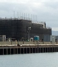Google mystery barge in San Francisco.
