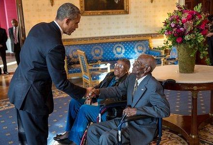 At 107 years old, World War II veteran Richard Overton credits God for his longevity.