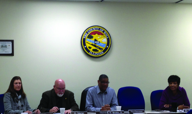 The new ad-hoc airport committee for the Will County board held its first meeting Nov. 7. Pictured (from left) at the meeting are board members Diane Zigrossi (D-Crest Hill), the Don Moran (D-Romeoville), the committee's chairman, Speaker Her Brooks (D-Joliet) and Denise Winfrey (D-Joliet).