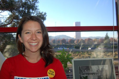 Tara Sulzen drives the social justice agenda at The Bus Project. She is the non-profit's new executive director.