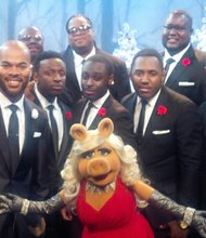 "J.J. Hairston and the tenors from Youthful Praise will back Miss Piggy on a classic holiday song on the network TV special ""Lady Gaga and the Muppets' Holiday Spectacular"" that airs on Thanksgiving evening, November 28, 2013 at 9:30 p.m. ABC."