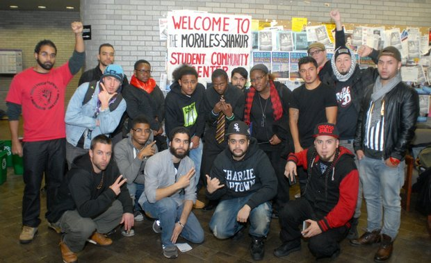 Students protest the closure of the Morales/Shakur Student and Community Center at City College