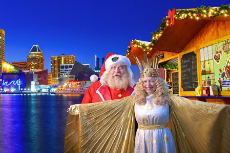 German Christmas sails into Baltimore! For the first time ever, the Christmas Village will transform Baltimore's Inner Harbor West Shore ...