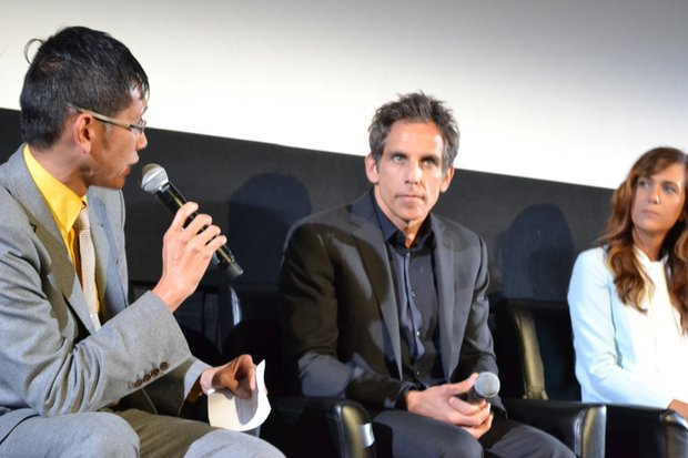 """Actor Ben Stiller answers questions from reporters at the press conference for """"The Secret Life of Walter Mitty."""""""