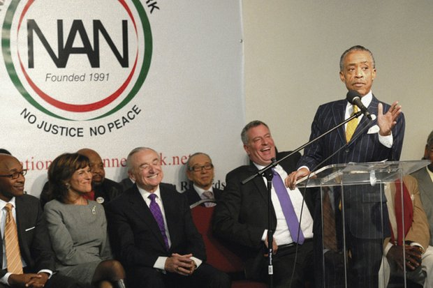 Rev. Al Sharpton speaks at the National Action Network's memorial for Nelson Mandela