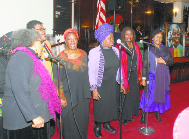 A group of six South African women and African-American musicians