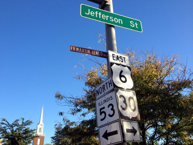 A portion of Jefferson Street in downtown Joliet has an honorary street name in memory of the Rev. Martin Jenco and is named Father Martin Jenco Drive. The city council plans to discuss three new proposals for honorary street names at tonight's pre-council meeting.