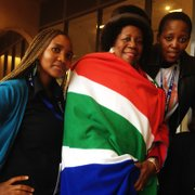Congresswoman Sheila Jackson Lee in South Africa with others