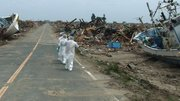The town of Futaba in the aftermath of the Fukushima nuclear meltdown