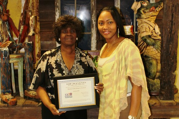 The Southeast Tourism Society (STS) recently honored the Martin Luther King, Jr. Festival as a Top 20 Event for the ...