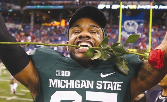 Connor Cook threw a tie-breaking, 25-yard touchdown pass to Tony Lippett with 13 minutes, 22 seconds to play to give ...