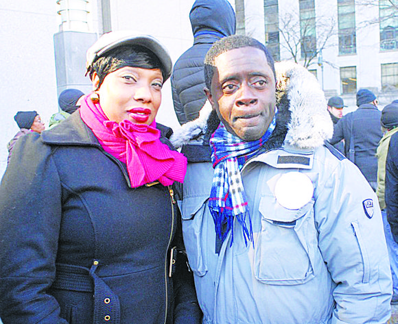 Flanked by dozens of youths outside the Department of Justice office in downtown Manhattan, the mother of Ramarley Graham urged ...