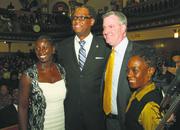 Michelle and Councilman Robert E. Cornegy Jr. with Mayor Bill de Blasio and wife, Chirlane McCray