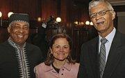 Charles Barron, Speaker Melissa Mark-Viverito and Mayor Chokwe Lumumba Jackson Miss.  (Bill Moore photo)