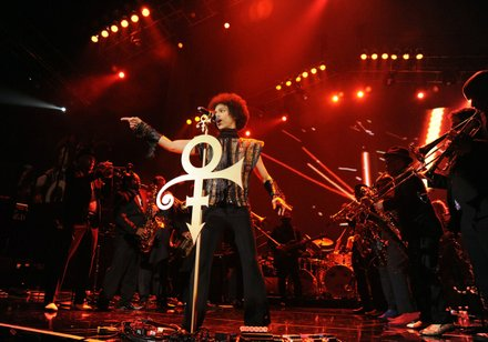Prince performance on Dec. 29, 2013.