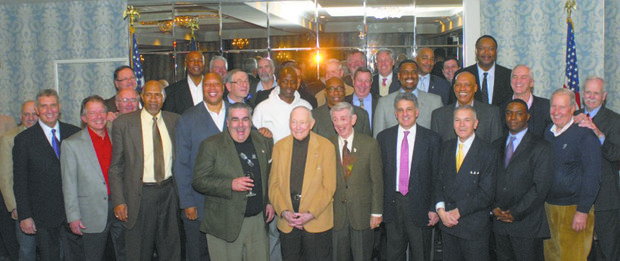 """St. John's University alumni, former star athletes, coaches and administrators turned out in full at the event, hosted by Mel Davis and Billy Schaefer, former teammates at """"The John."""""""