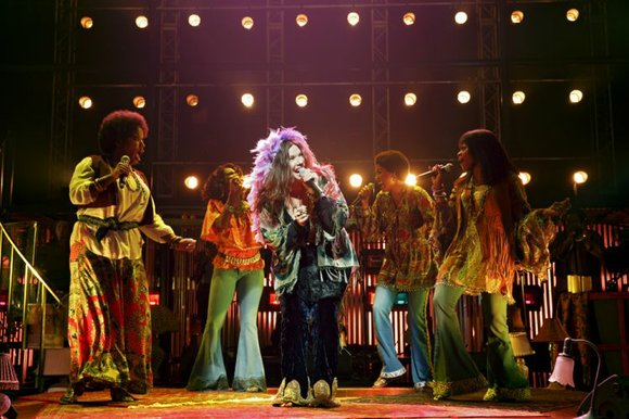 """""""A Night With Janis Joplin,"""" currently knocking audiences sideways with nuclear-fueled rock and roll at the Lyceum Theater, is much ..."""