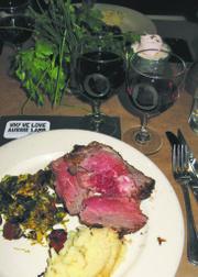 Leg of lamb and wines