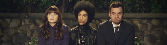 """The elusive music icon made a cameo on Fox's """"New Girl"""" directly after Super Bowl XLVIII."""