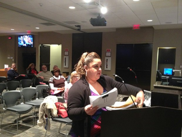 Amy Sanchez, of Joliet, addressed the city council Monday night, urging members to implement the Quality of Life plan before coming up with another strategic plan.