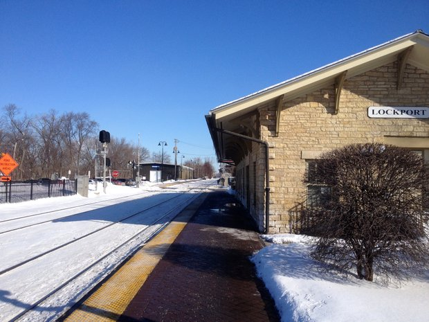 Some Romeoville residents who travel to downtown Chicago pick up the Metra train along the Heritage line at this stop in Lockport