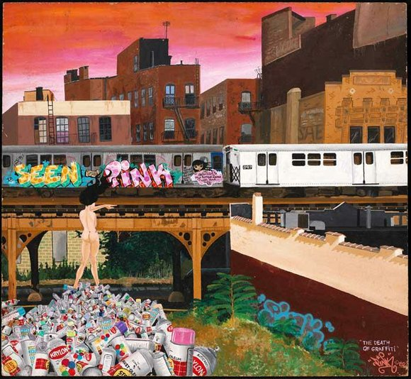 """The Museum of the City of New York is currently showing """"City as Canvas: Art From the Martin Wong Collection,"""""""
