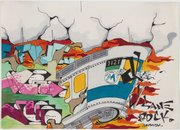 """Sane Smith, """"Untitled, ca.,"""" 1989. Ink on paper. Museum of the City of New York, gift of Martin Wong."""