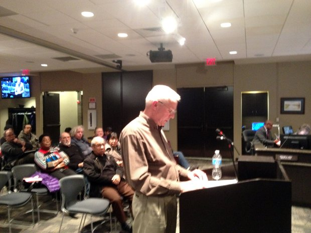 John Sheridan, a resident of Joliet's 4th District, came before the city council Tuesday to question the prolonged absence of Councilwoman Susie Barber.