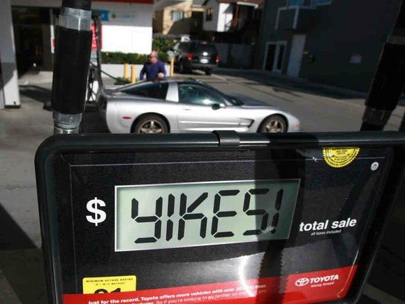 The average price of a gallon of self-serve regular gasoline in Los Angeles County rose to its highest amount since ...