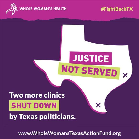 Today, two reproductive health clinic closures were announced in rural Texas, as a result of Texas House Bill 2, disproportionately ...