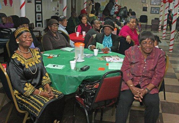 The intergenerational Black History celebration between the seniors of Stuyvesant Heights Neighborhood Center and eighth-grade students at Sankofa International Academy ...