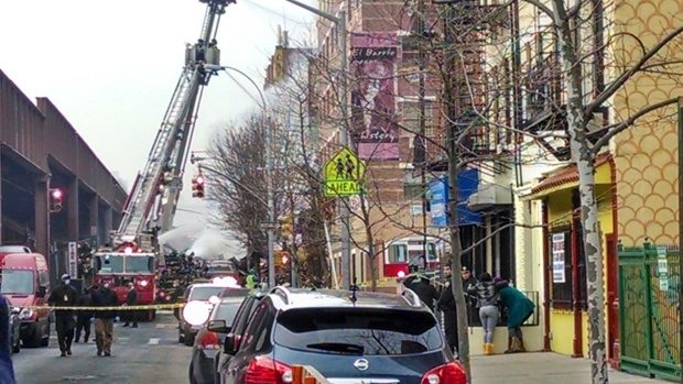 Building collapse in East Harlem