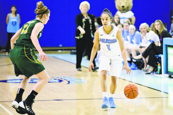 Columbia University point guard Taylor Ward posted 16 points in the final game of her collegiate career, a loss to ...