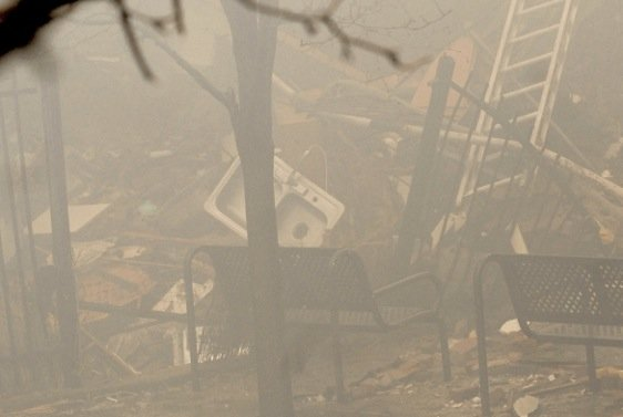 photo from inside the East Harlem buildings that collapsed on March 12