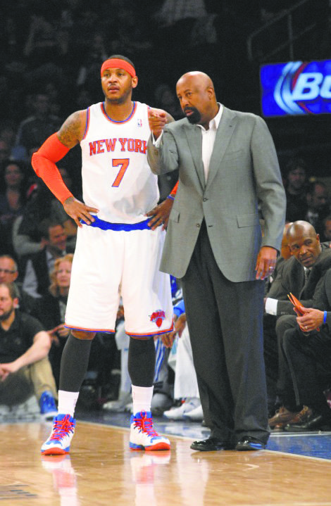 Will Carmelo Anthony and Mike Woodson leave 33rd Street together when the season ends?