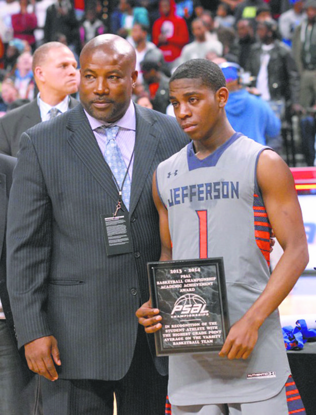 Don Douglas and academic award-winner Devonte Wilson