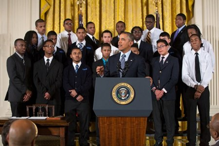 After five years in the Oval Office and facing increasing skepticism from many of the 93 percent of black voters ...